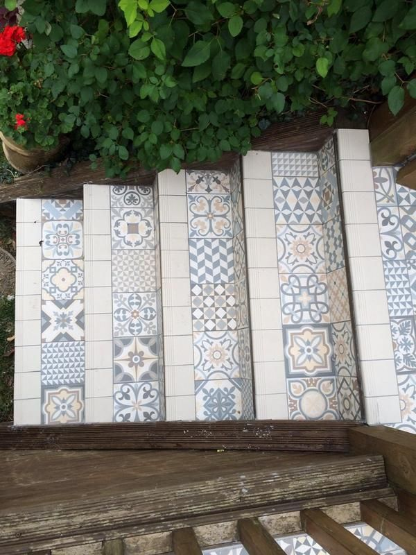Waxman Ceramics Rustic Heritage Used On An Outdoor Application