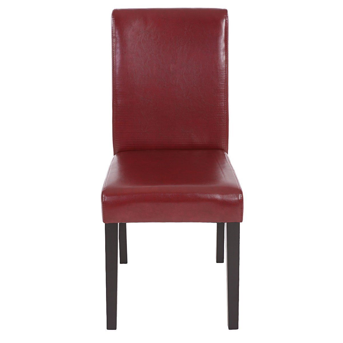 2x Esszimmerstuhl Stuhl Küchenstuhl Lehnstuhl Polsterstuhl Kunstleder braun