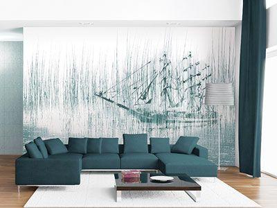 Beautiful Carta Da Parati Soggiorno Contemporary - Design Trends ...