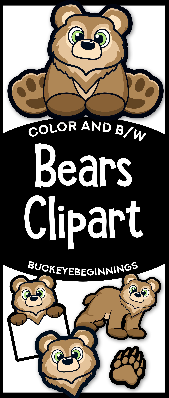 bear clipart cute bear mascot clipart [ 2550 x 6000 Pixel ]