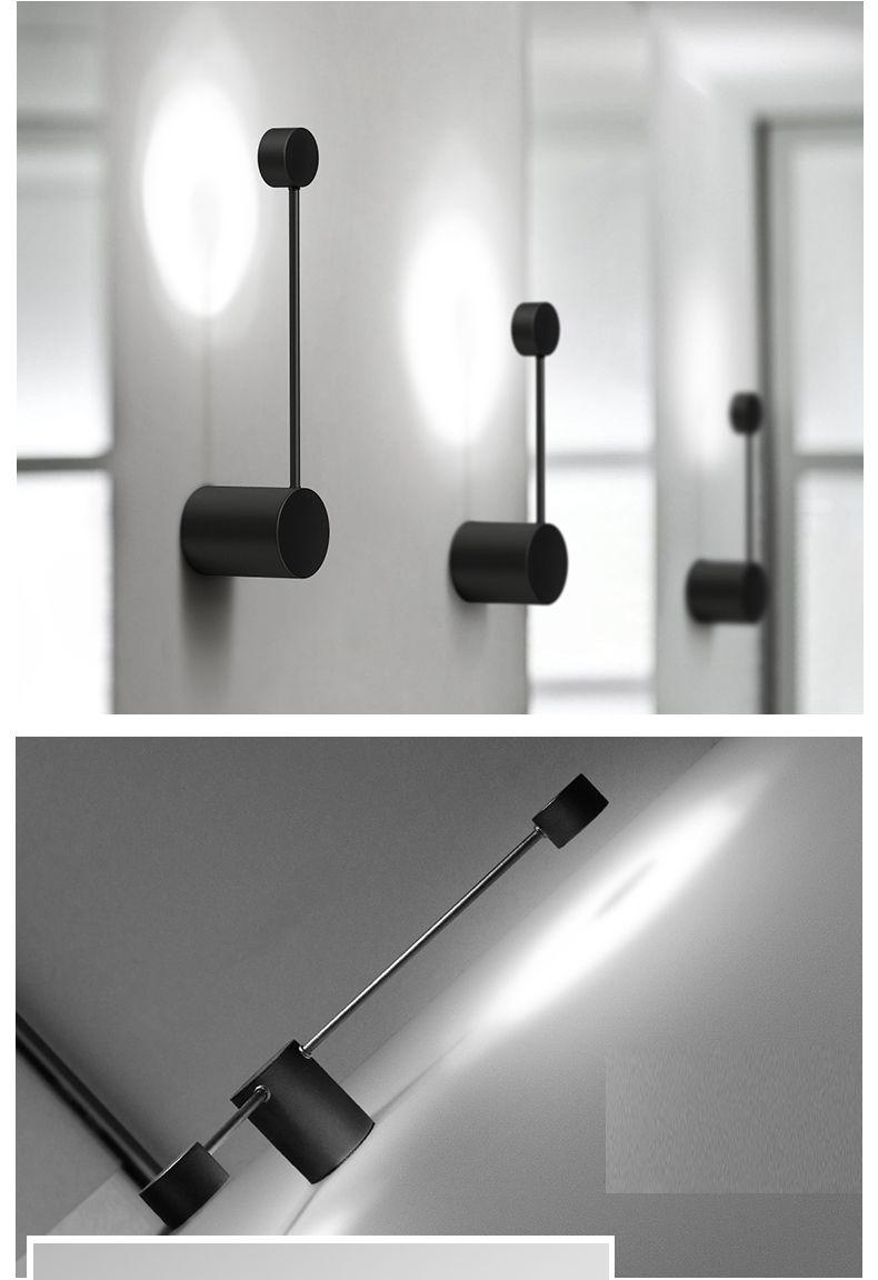 2018 New Minimalist Art Dots Wall Light Modern Led Living Room Wall Lamp Nordic Creative Aisle Lighting Fixtur Wall Lamps Living Room Wall Lamp Modern Lighting