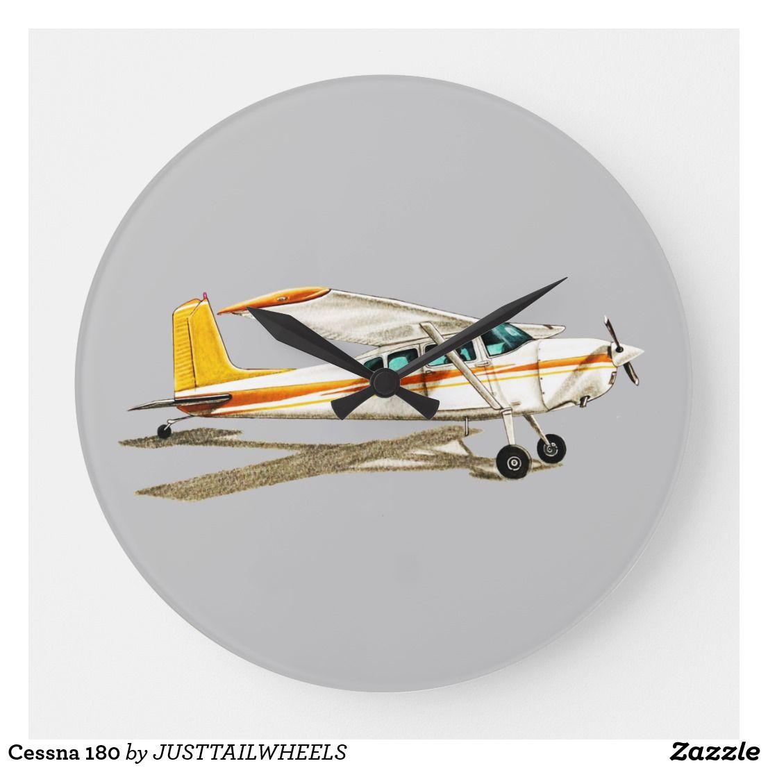 Cessna 180 Large Clock