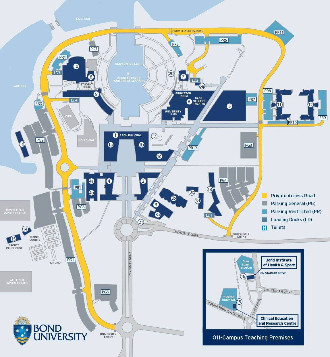 Bond University Map Campus map | Wayfinding map | Campus map, Map signage, Urban