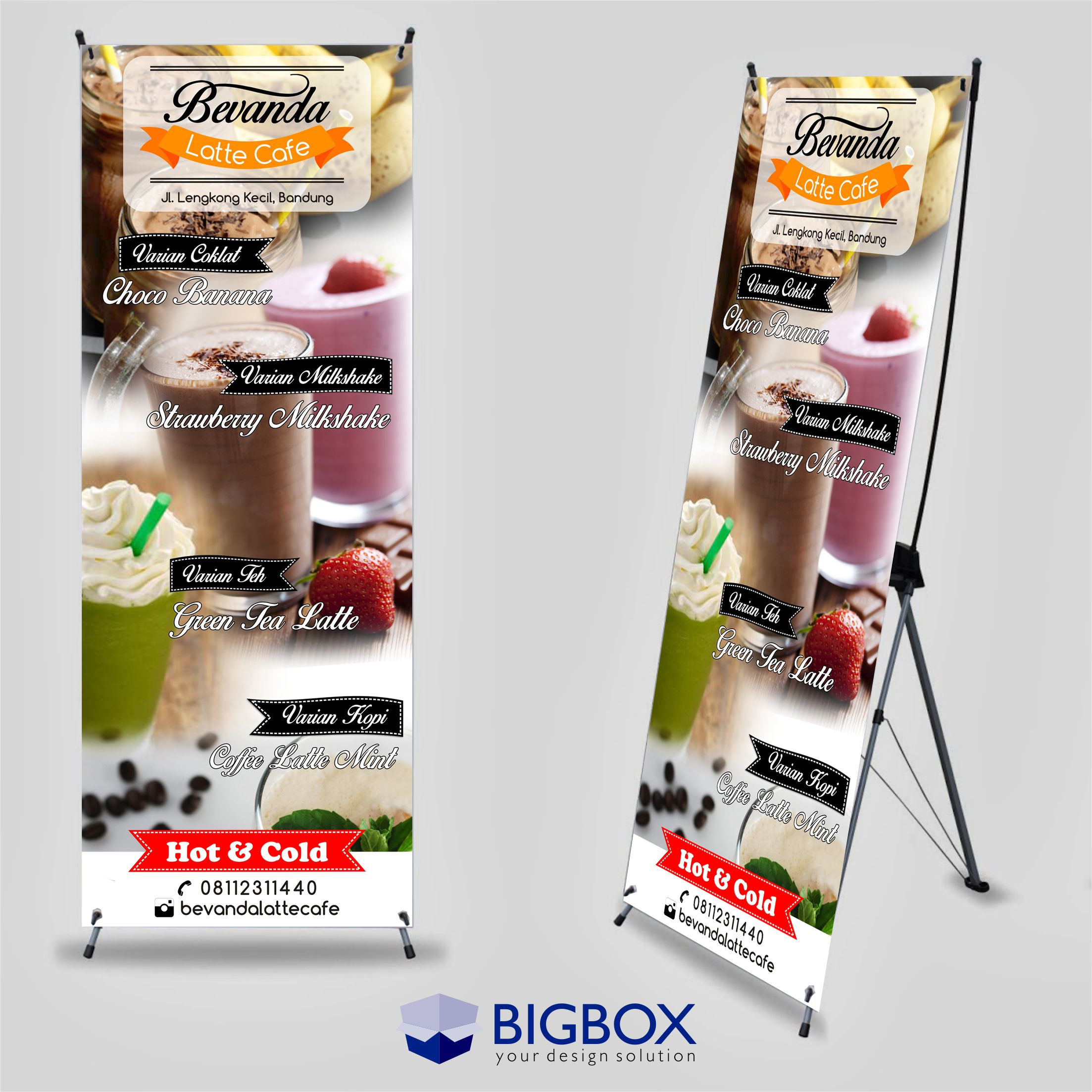 X Banner/Standing Banner for cafe/foodcourt/coffee shop  Desain