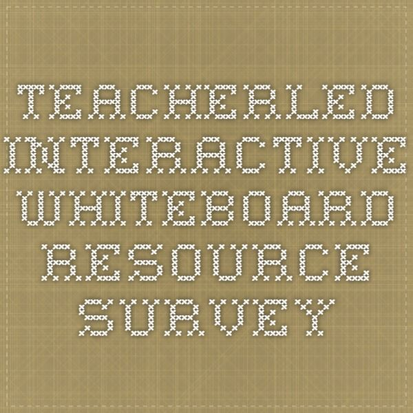 Teacherled interactive whiteboard resource survey math tools for teacherled interactive whiteboard resource survey gumiabroncs Gallery