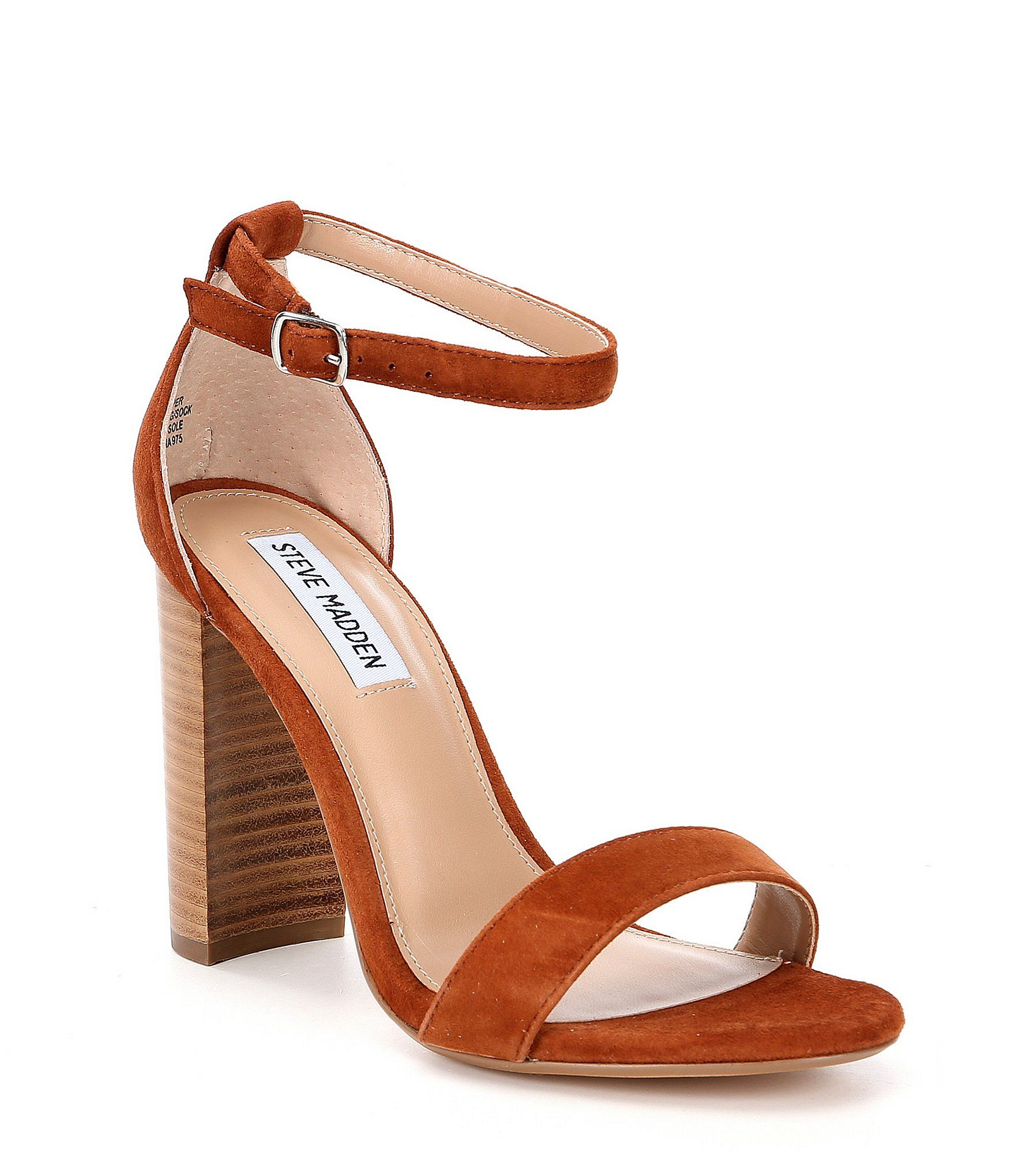 fea9c8e884403 Shop for Steve Madden Carrson Suede Ankle Strap Block Heel Dress Sandals at  Dillards.com. Visit Dillards.com to find clothing