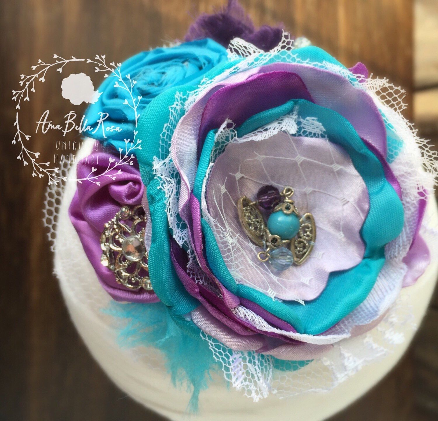 A personal favorite from my Etsy shop https://www.etsy.com/listing/265395963/shabby-chic-couture-collection-purple