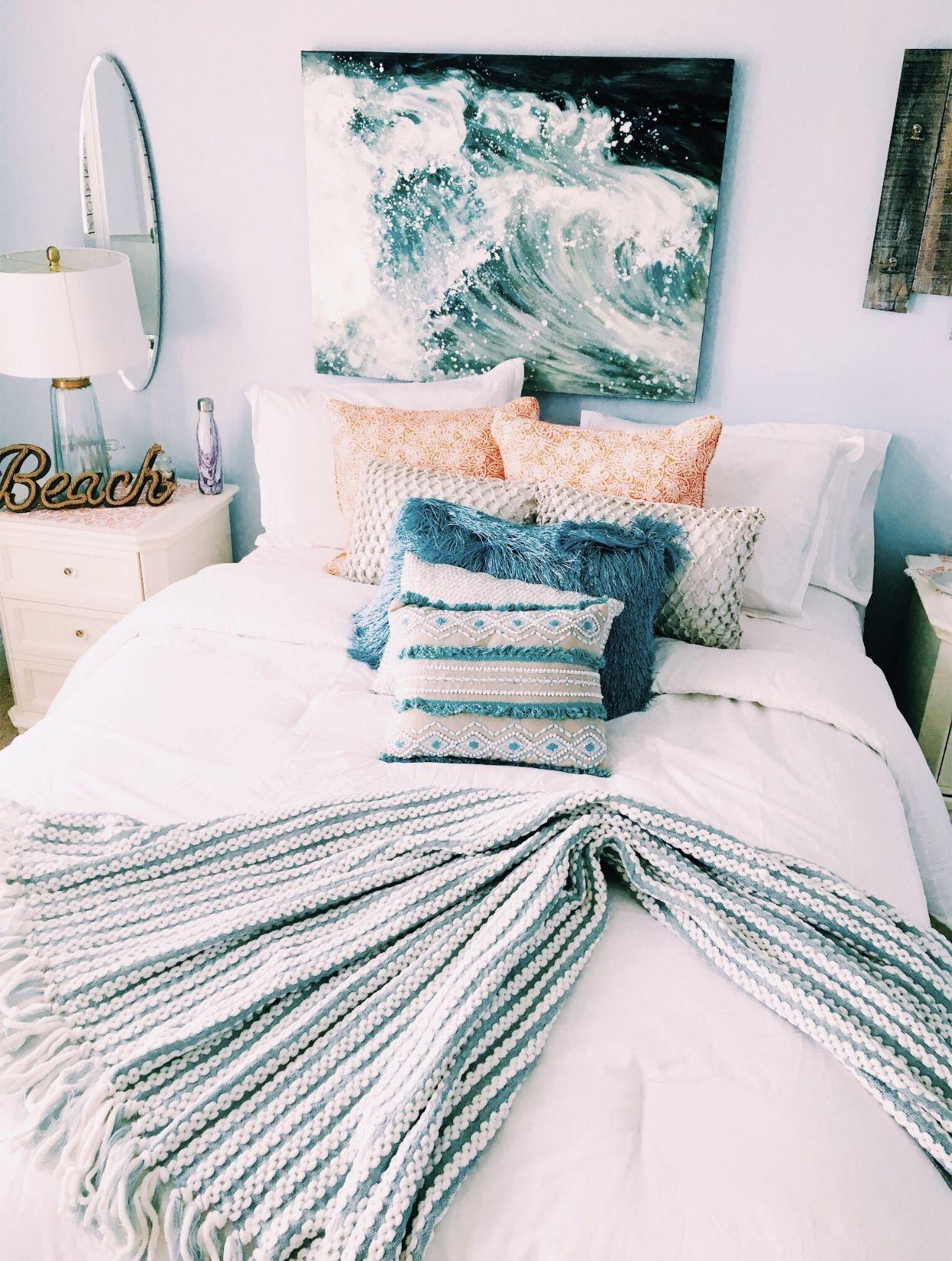Home Bedroom Gray Decor Surf Ideas