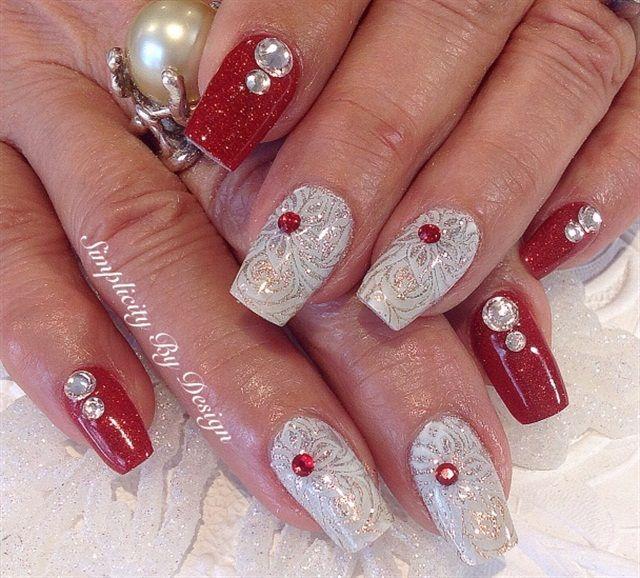 Day 359 Merry Christmas Nail Art Pinterest Nagel En Kerst