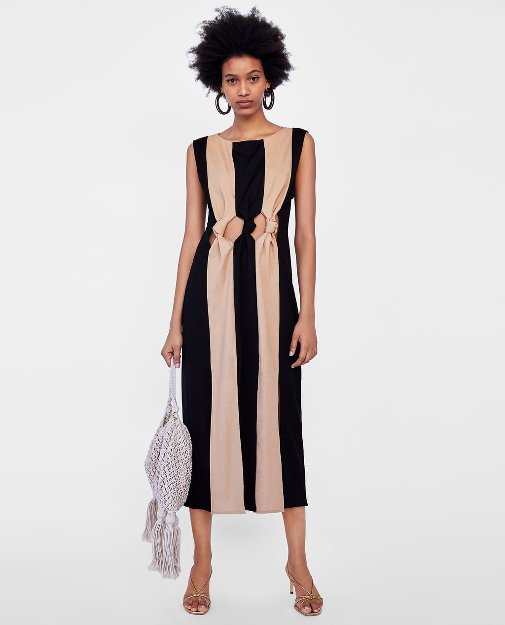 dc1d150d Image 1 of TWO-TONE DRESS WITH KNOT DETAIL from Zara | :: fashion ...