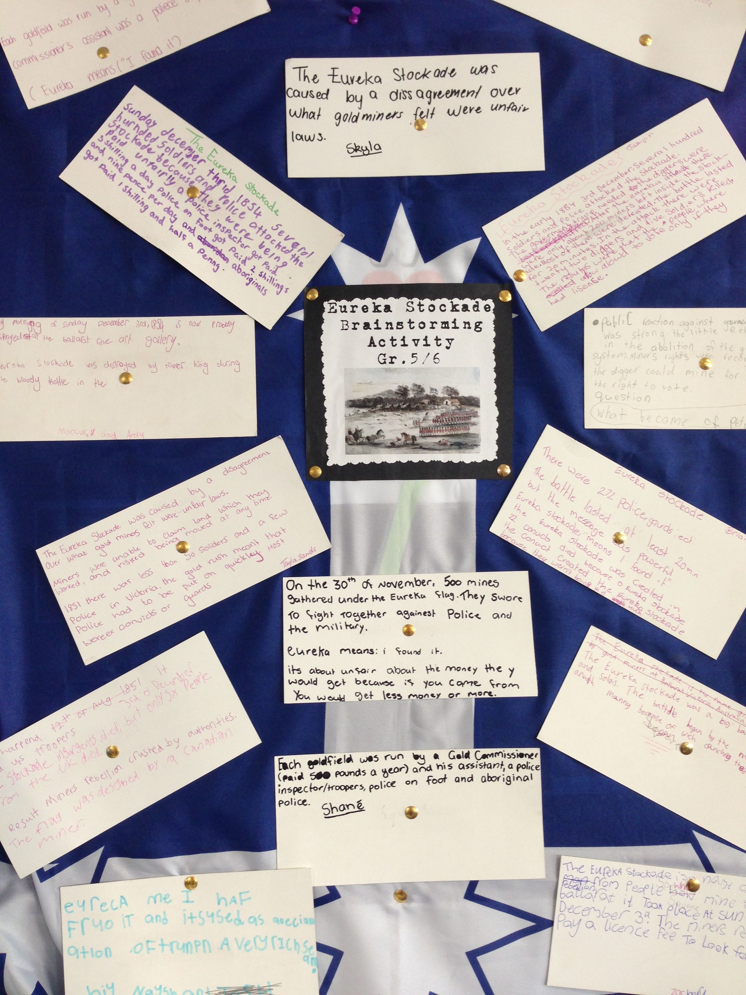 Eureka Stockade Brainstorm We Researched All We Could