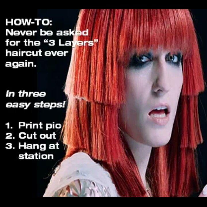 3 Layer Cut Behindthechair Bad Hair Pinterest Layered