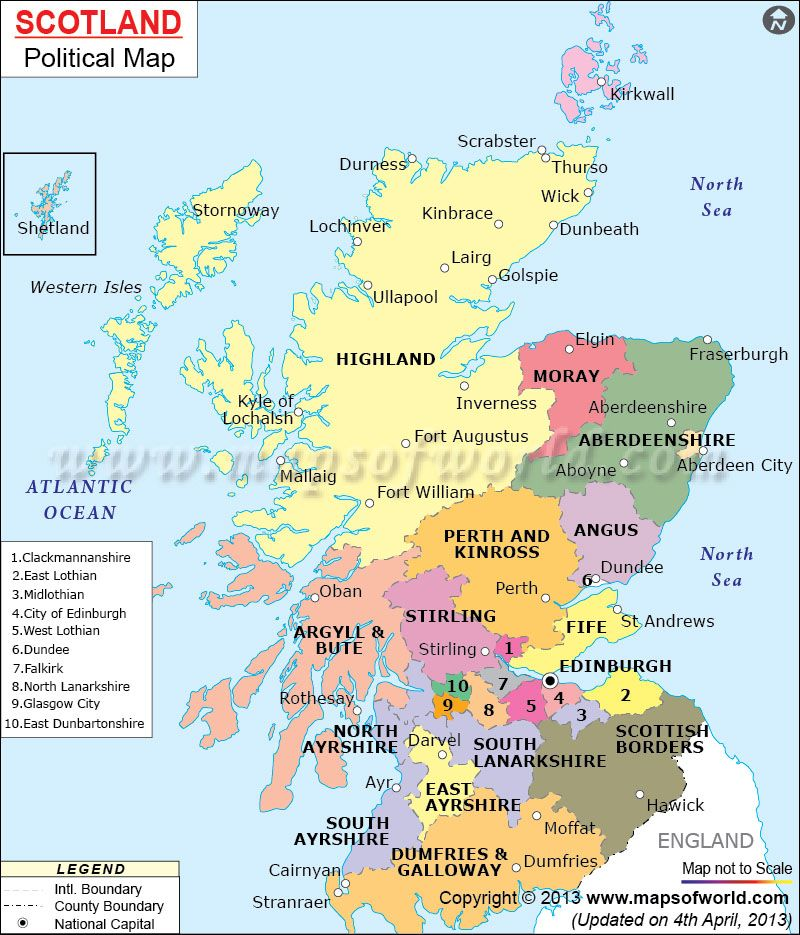 Political Map of Scotland | Scotland - a lifelong dream realised ...