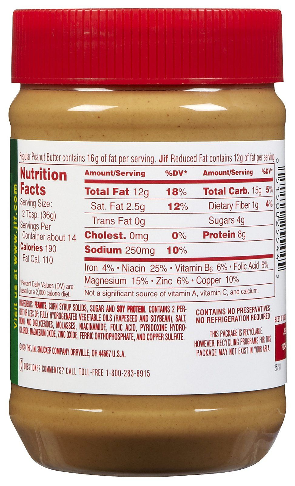 reduced fat jif peanut butter nutrition label | dollhouse printables