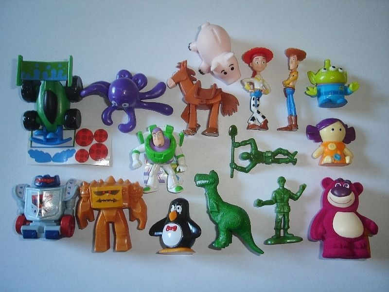 Toy Story Figurines : Toy story set of mini french porcelain feves miniature