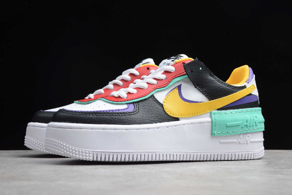 2019 Women's Size Nike Air Force 1 Shadow White/Black-Red ...