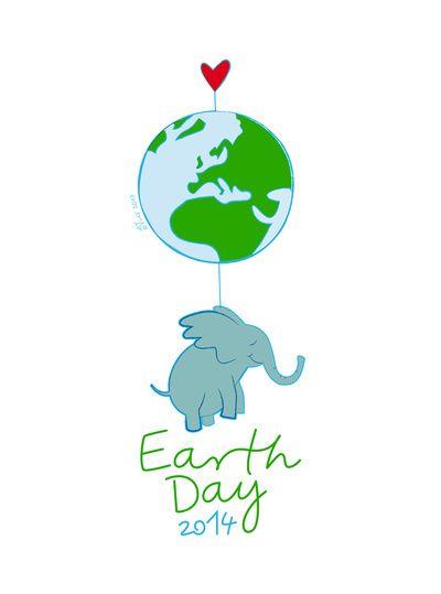 Earth day 2014 Art Print
