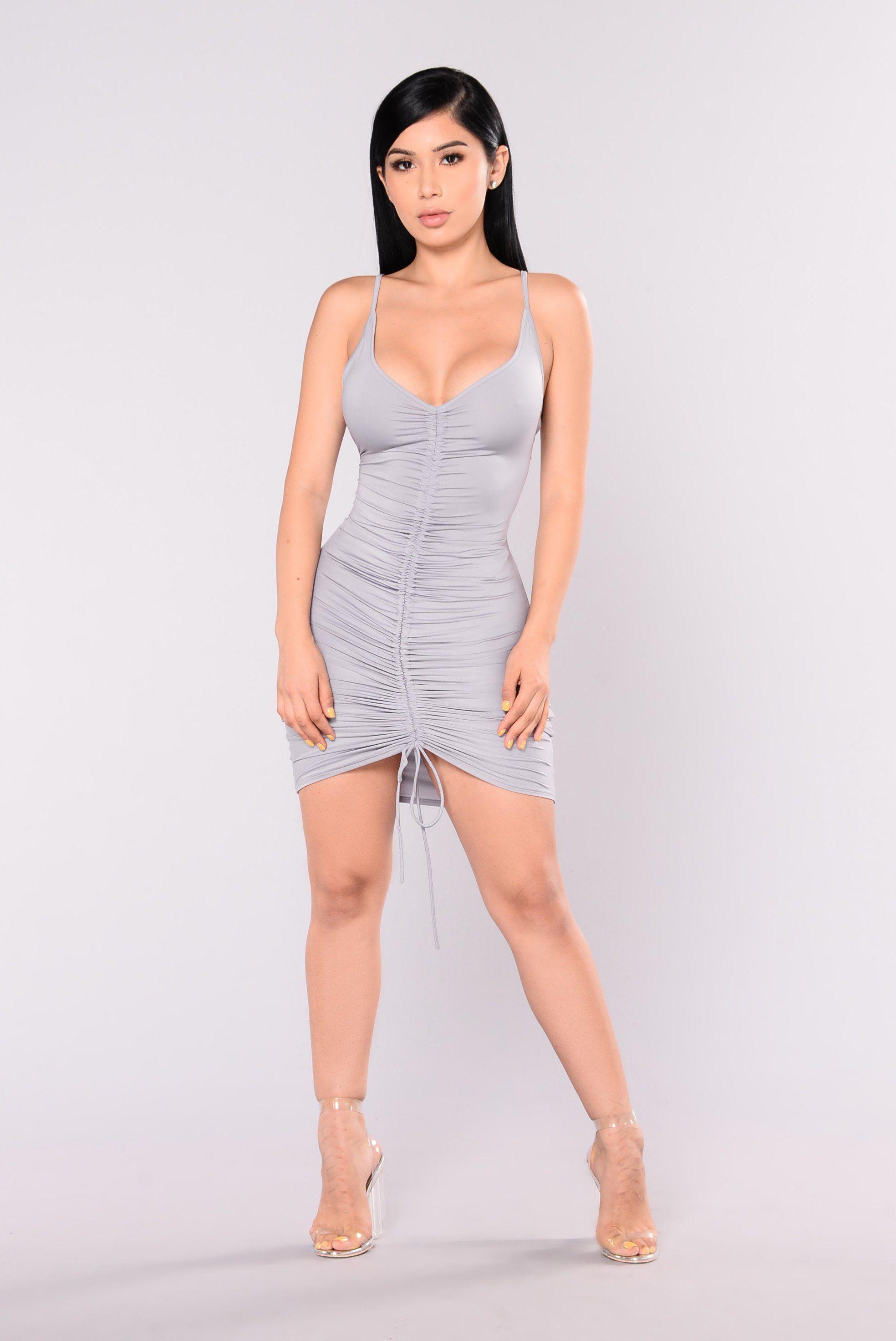 Shanghai Ruched Dress - Grey