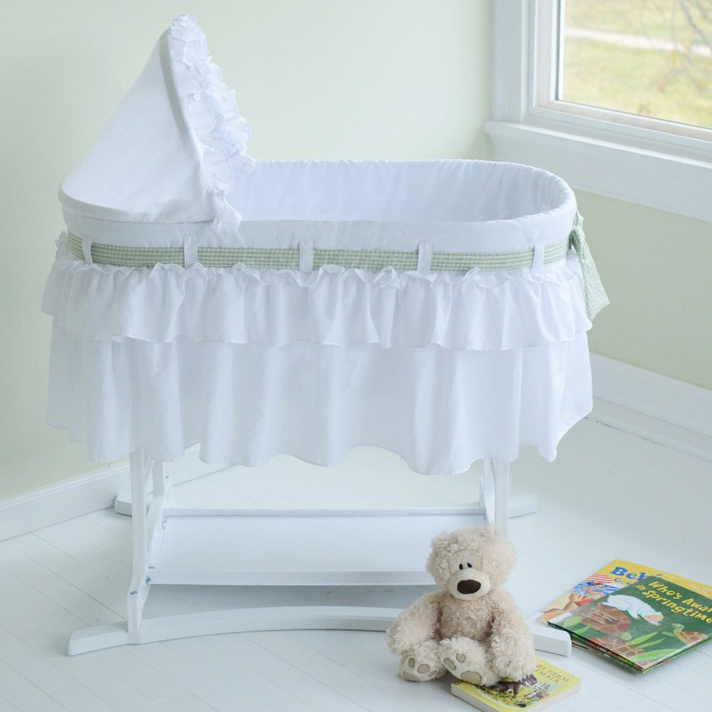 White Baby Doll Bedding Simplicity Cradle Set