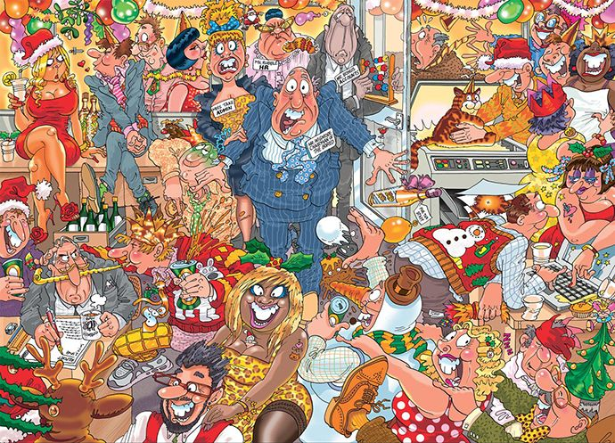 Double Trouble Jigsaw puzzles, Office christmas party