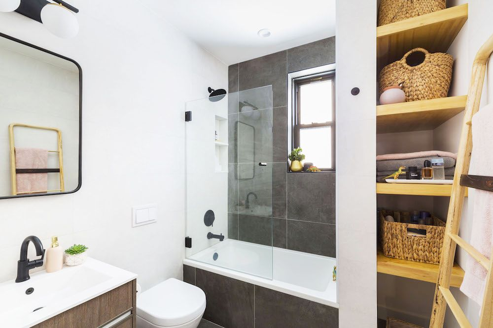 These Renovators Moved Their Bathroom Plumbing Bathroom