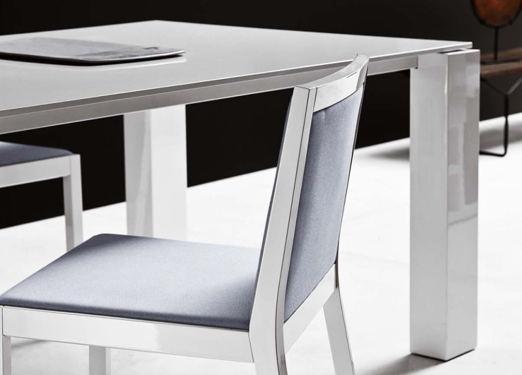 White Lacquer Table White Dining Room Dining Table Design