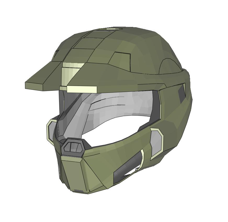 Halo Infinite Master Chief Helmet Cosplay Foam Pepakura File Template In 2021 Pepakura Pepakura Files Cosplay
