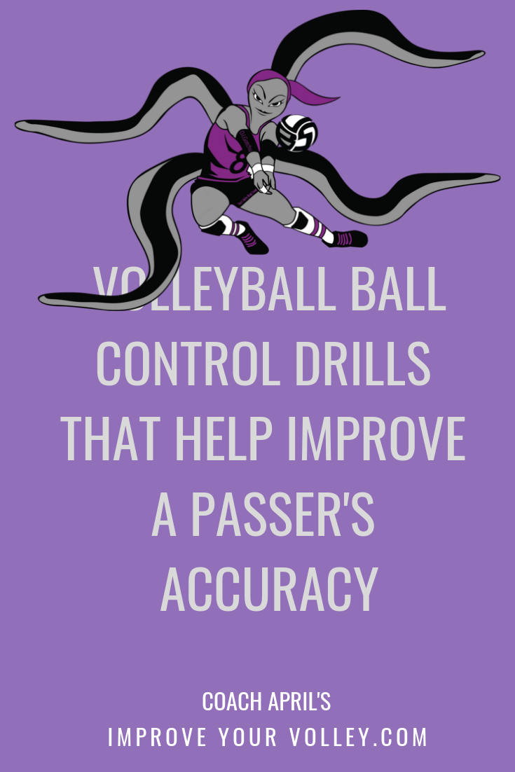 Volleyball Ball Control Drills That Help Improve A Passer S Accuracy By April Chapple For More In Volleyball Practice Volleyball Passing Drills Setting Drills