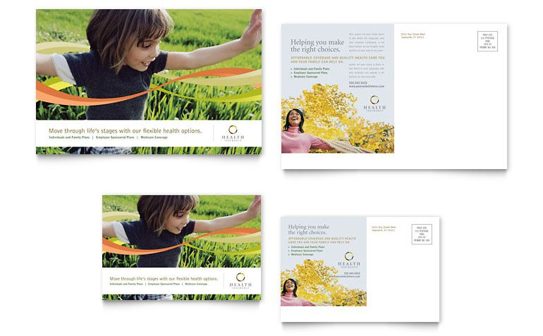 Insurance Postcard Design Ideas  Trc    Postcard