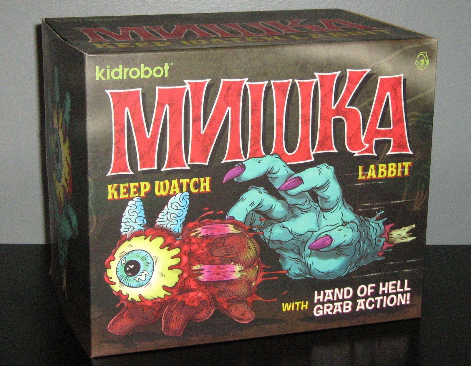Keep Watch Labbit 10 inch Kidrobot x Mishka NYC Blue GID Hand of Hell | eBay
