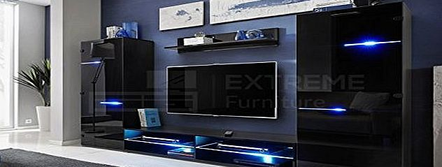 Extreme Furniture Living Room High Gloss Furniture Set Display Wall Unit TV  Unit Cabinet SWITCH No