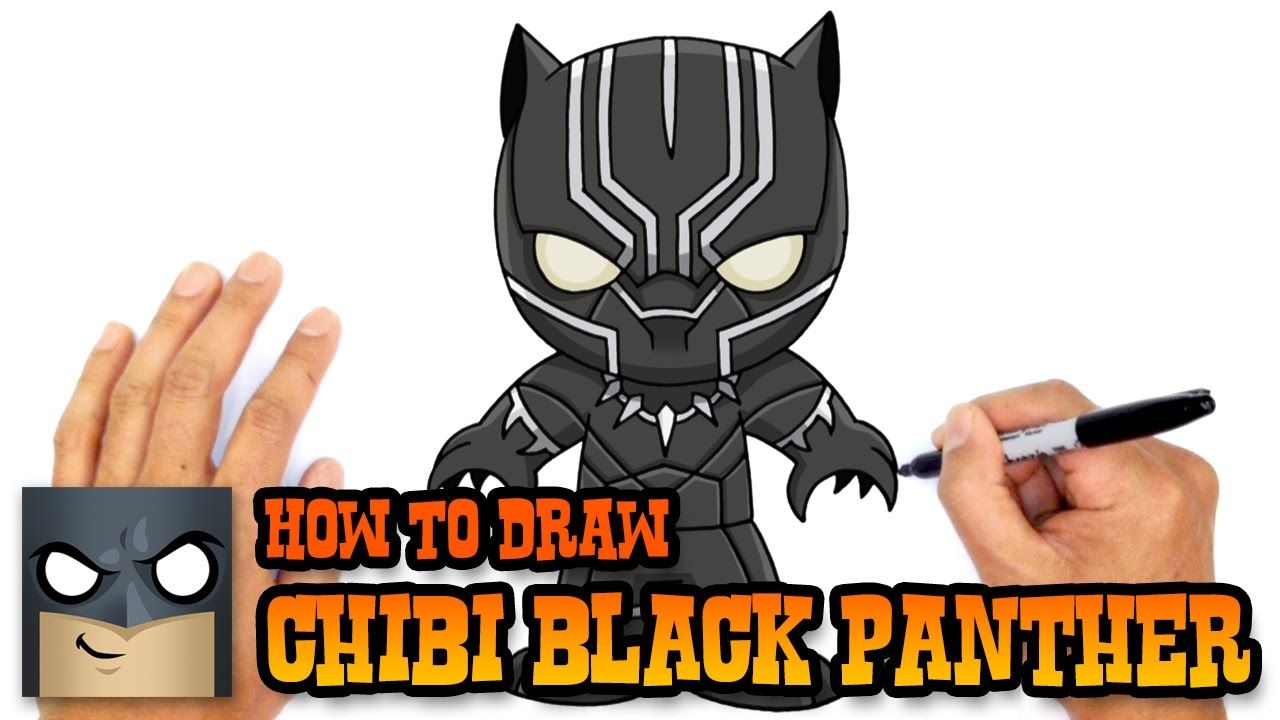How To Draw Black Panther The Avengers Diy How To Mack
