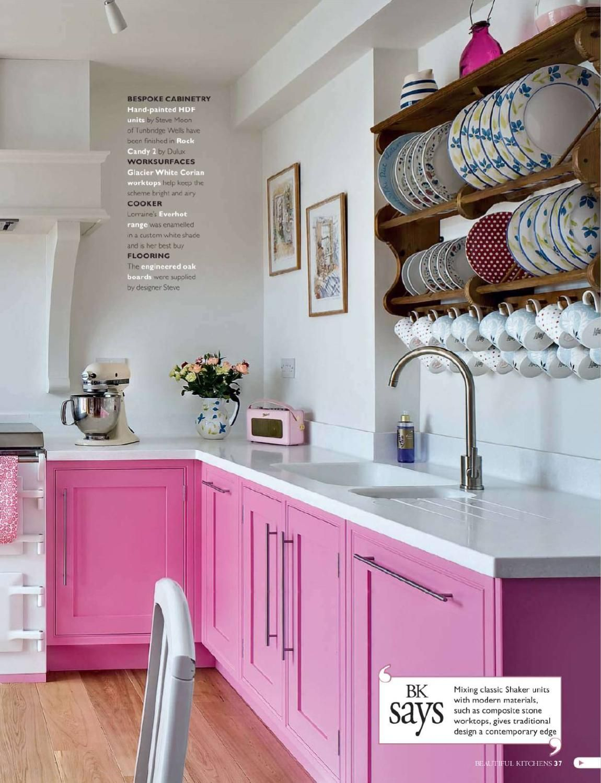 beautiful kitchens 2010 09 beautiful kitchens pink kitchen pink kitchen cabinets on kitchen decor pink id=41547