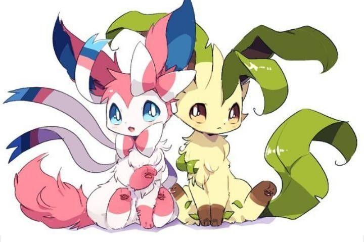 Sylveon And Leafeon Cute Pokemon Pinterest Fotos De Pokemon