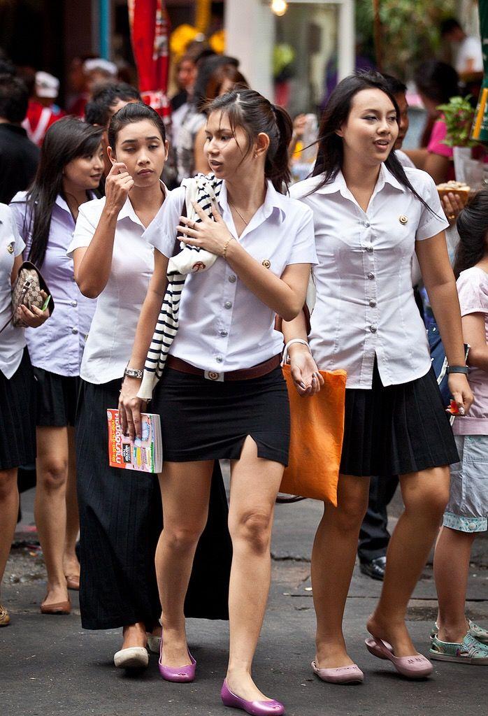 School Chinese Thailand Girls Uniform