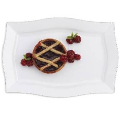 Platinum Rectangle White Disposable Dinner Plates by Smartyhadaparty.com  sc 1 st  Pinterest & Platinum Rectangle White Disposable Dinner Plates by ...