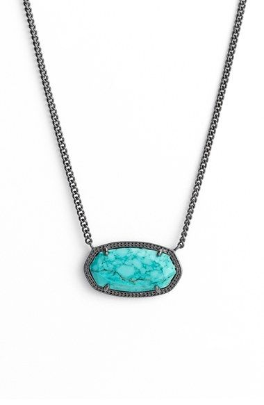 Kendra Scott 'Dylan' Stone Pendant Necklace available at #