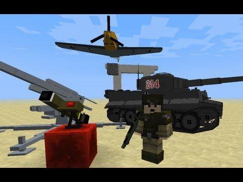 minecraft nerf mod | minecraft mod spotlight: WW2 mod planes,guns,tanks -
