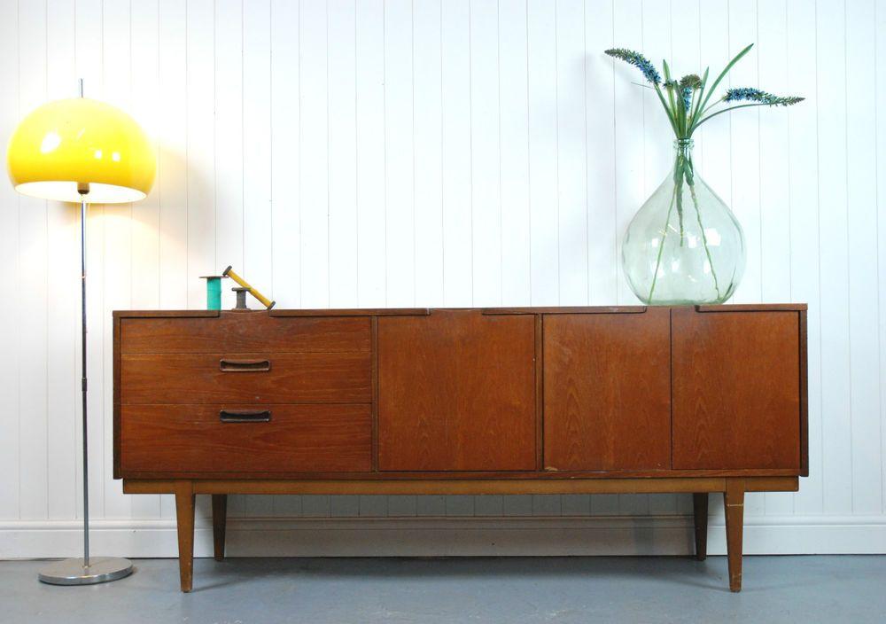 Retro Teak Nathan Sideboard Vintage Danish Style Mid Century Vintage Sideboard Home Decor Furniture Furniture