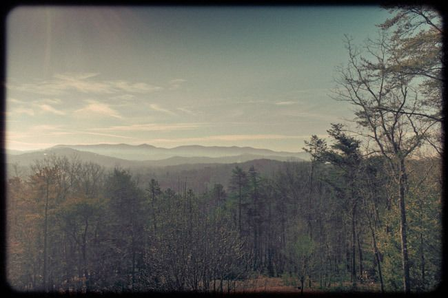"""Seek the Mountain View. Blue Ridge Mountains of Georgia.  """"When we tire of well-worn ways, we seek for new. This restless craving in the souls of men spurs them to climb, and to seek the mountain view."""" —Ella Wheeler Wilcox  Photo Quotes on Renaissance Girl"""