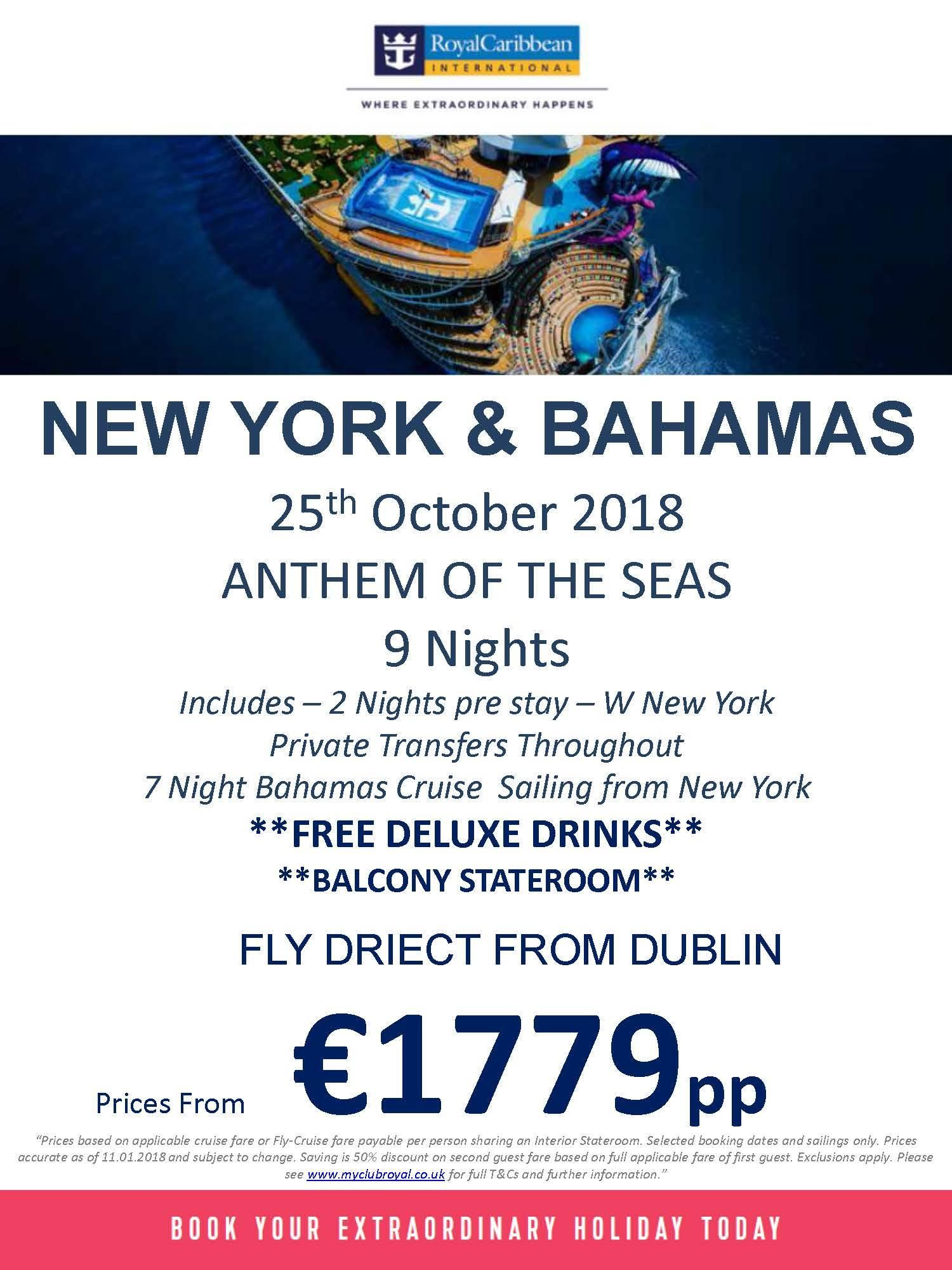 And the DEAL OF THE WEEK title goes to the NEW YORK & BAHAMAS offer from Royal Caribbean International Limited availability catch it while yo…