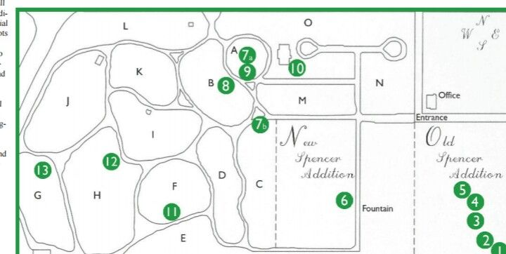 Rose Hill Cemetery Map Located In Bloomington Indiana Indiana