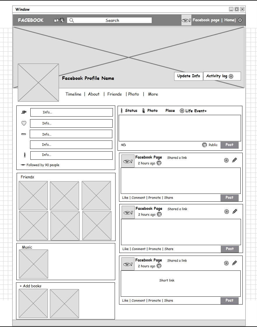 Social Network Profile Page User Centred Web Engineering