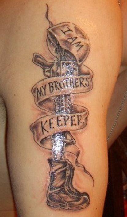 Memorial Tattoos For Brothers : memorial, tattoos, brothers, Brother, Keeper, Military, Memorial, Tattoo, Tattoos,, Designs