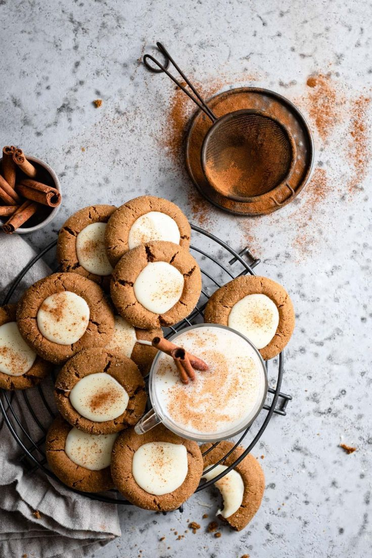 Eggnog Gingerbread Thumbprint Cookies Two Cups Flour Recipe In 2020 Cookie Recipes Homemade Recipes Thumbprint Cookies