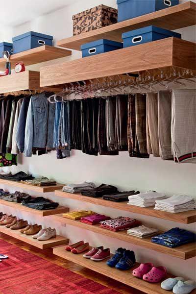 Personal Closet Organizer prático: closets, cabides e molde para dobra de roupa | yru