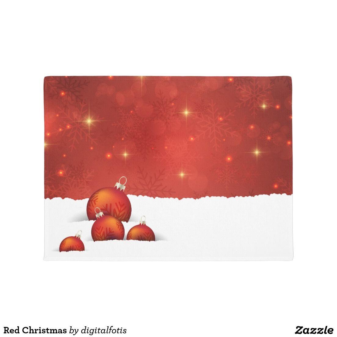Red Christmas Doormat | Christmas doormat, Red christmas and Doormat