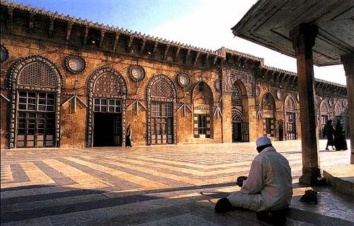 Courtyard of The Great Umayyad Mosque, Aleppo