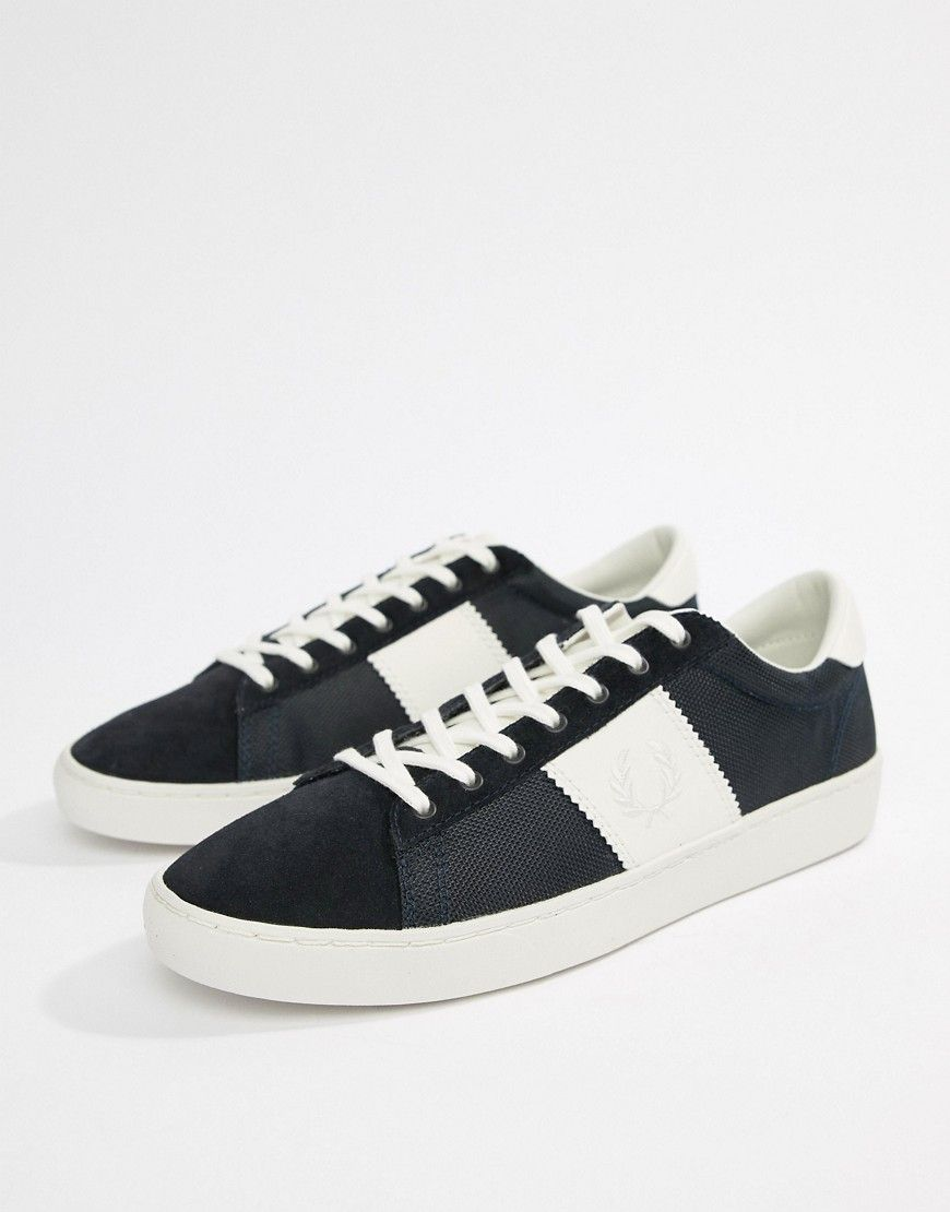 074e56c8474138 FRED PERRY SPENCER NYLON CONTRAST SNEAKERS IN NAVY - NAVY.  fredperry  shoes