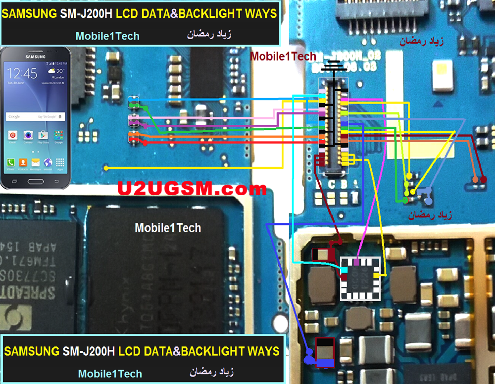 Samsung Galaxy J2 J200H Display Problem Solution Jumper